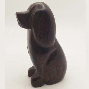 Vintage walnut Saint Bernard, Bernese dog